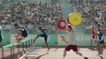 GEICO Car Insurance TV Spot, \'Weightlifter Wins Track Race\'