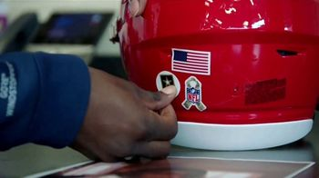 USAA TV Spot, 'Salute to Service: Helmet Decals' Featuring Drew Brees, Kareem Hunt and Chris Conley - Thumbnail 9