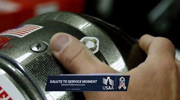 USAA TV Spot, 'Salute to Service: Helmet Decals' Featuring Drew Brees, Kareem Hunt and Chris Conley - Thumbnail 2