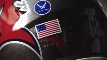 USAA TV Spot, 'Salute to Service: Helmet Decals' Featuring Drew Brees, Kareem Hunt and Chris Conley - Thumbnail 4