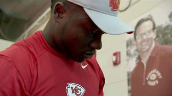 USAA TV Spot, 'Salute to Service: Helmet Decals' Featuring Drew Brees, Kareem Hunt and Chris Conley - Thumbnail 6