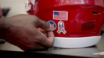 USAA TV Spot, 'Salute to Service: Helmet Decals' Featuring Drew Brees, Kareem Hunt and Chris Conley - Thumbnail 7