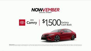 Toyota Nowvember Sales Event TV Spot, '2018 Camry' [T2] - Thumbnail 7