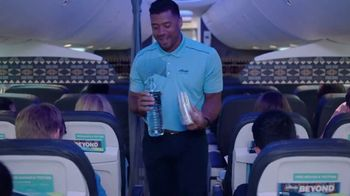 Alaska Airlines TV Spot, 'Flight Attendant Training: Life Vest Demo & Water Walk' Featuring Russell Wilson - Thumbnail 10