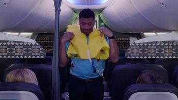 Alaska Airlines TV Spot, 'Flight Attendant Training: Life Vest Demo & Water Walk' Featuring Russell Wilson - Thumbnail 3