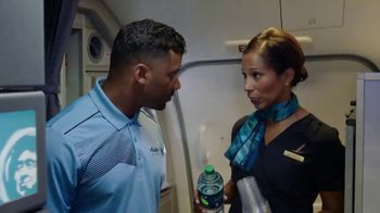 Alaska Airlines TV Spot, 'Flight Attendant Training: Life Vest Demo & Water Walk' Featuring Russell Wilson - Thumbnail 7
