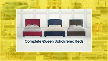 Rooms to Go Holiday Sale TV Spot, 'Upholstered Queen Beds'