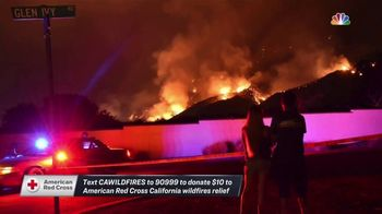 American Red Cross TV Spot, 'NBC: California Wildfires' - 1 commercial airings