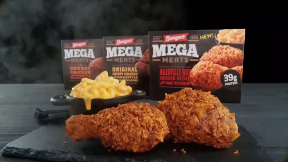 Banquet Mega Meats Nashville Hot Fried Chicken With Mac N Cheese Tv