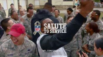 NFL TV Spot, 'Salute to Service: 2018 USO Tour' Feat. Carlos Dunlap, Mark Ingram, Latavius Murray - Thumbnail 10