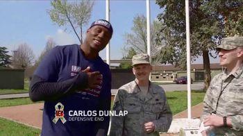 NFL TV Spot, 'Salute to Service: 2018 USO Tour' Feat. Carlos Dunlap, Mark Ingram, Latavius Murray - Thumbnail 3