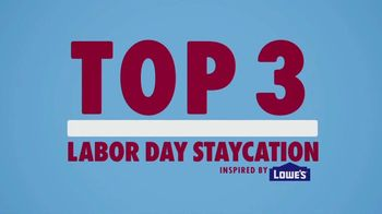 Lowe's TV Spot, 'WE tv: Labor Day Staycation'