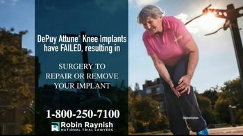 Robin Raynish Law TV Spot, 'Knee Implant Complications'