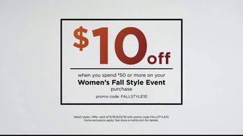 Kohl's Women's Fall Style Event TV Spot, 'Layer on the Savings' - Thumbnail 8