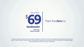 Southwest Airlines Fall Travel Sale TV Spot, 'Low Fares: September' - Thumbnail 7
