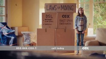Cox High Speed Internet TV Spot, 'Laws of Moving' - Thumbnail 1