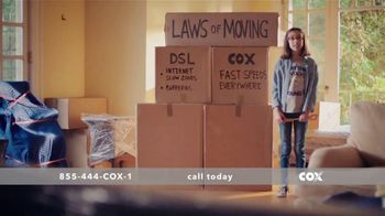 Cox High Speed Internet TV Spot, 'Laws of Moving' - Thumbnail 5