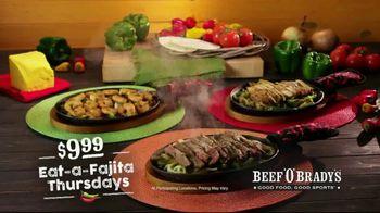 Beef 'O' Brady's TV Spot, 'Fajita Thursdays' - Thumbnail 5