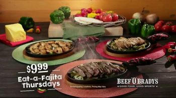 Beef 'O' Brady's TV Spot, 'Fajita Thursdays' - Thumbnail 9