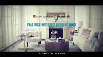 Urban Interiors & Thomasville Fall Kick-Off Sale TV Spot, 'Furniture' - Thumbnail 1