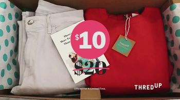 thredUP Goody Boxes TV Spot, 'Look Good and Save Big' - 113 commercial airings