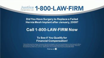 1-800-LAW-FIRM TV Spot, 'Failed Hernia Mesh' - Thumbnail 5