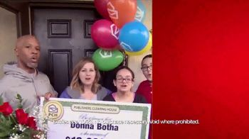 Publishers Clearing House TV Spot, '$2,500 a Week Forever: Last Chance' - 936 commercial airings