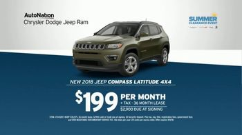 AutoNation Chrysler Dodge Jeep Ram TV Spot, 'Join the Crowd: Jeep Compass' - 670 commercial airings
