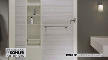 Kohler LuxStone Showers TV Spot, 'Get More Room Out of Your Shower' - Thumbnail 4