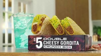 Taco Bell $5 Double Cheesy Gordita Crunch Box TV Spot, 'Added to the Sides'