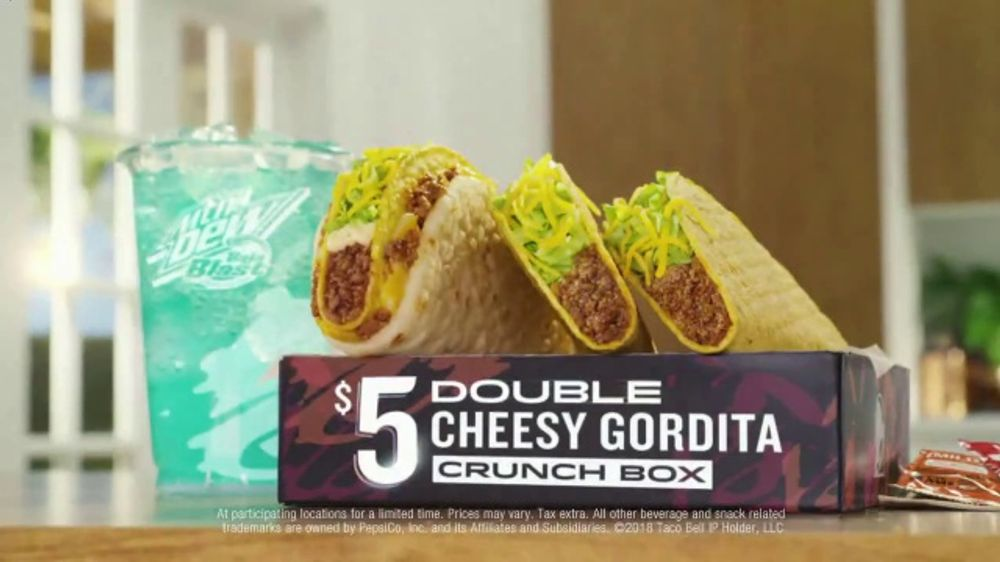 Taco Bell $5 Double Cheesy Gordita Crunch Box TV Commercial, 'Added to the Sides'