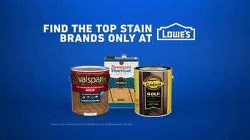 Lowe's TV Spot, 'Game-Changer: Top Stain Brands' - Thumbnail 9