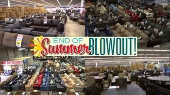 American Freight End of Summer Blowout TV Spot, 'Mattress Sets and Sofas'