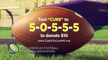 American Football Coaches Association TV Spot, 'Coaches to Cure MD' - Thumbnail 5