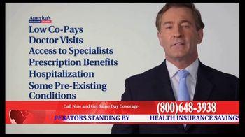 America's Healthcare Network TV Spot, 'Health Insurance Cost'