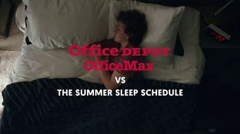 Office Depot OfficeMax $1 Supplies TV Spot, 'The Summer Sleep Schedule' - Thumbnail 1