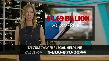 Holland Injury Law TV Spot, 'Talcum Cancer Legal Helpline'
