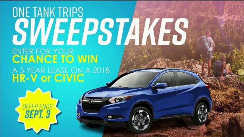 Honda One Tank Trips Sweepstakes TV Commercial, 'Hit the Road' [T2] - Video