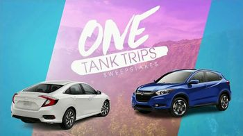 Honda One Tank Trips Sweepstakes TV Spot, 'Hit the Road' [T2] - Thumbnail 2