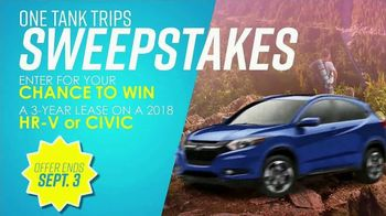 Honda One Tank Trips Sweepstakes TV Spot, 'Hit the Road' [T2] - Thumbnail 4