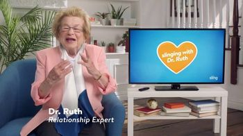 Sling TV Spot, 'Positions' Featuring Dr. Ruth - Thumbnail 2
