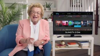Sling TV Spot, 'Positions' Featuring Dr. Ruth - Thumbnail 4