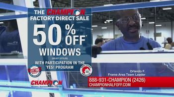 Champion Windows Factory Direct Sale TV Spot, 'No Middleman'