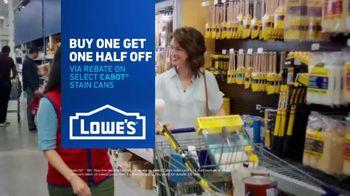 Lowe's TV Spot, 'Game-Changer: BOGO Cabot Stains' - Thumbnail 9