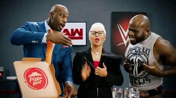 Pizza Hut Cheesy Bites Pizza TV Spot, 'USA Network: WWE' Feat. Titus O'Neil - Thumbnail 6
