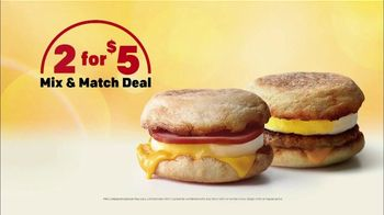 McDonald's 2 for $5 Mix & Match Deal TV Spot, 'Rooster' - 378 commercial airings