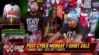 WWE Shop Post Cyber Monday T-Shirt Sale TV Spot, 'Keeping the Deals Going' Featuring Naomi, the Usos - Thumbnail 9