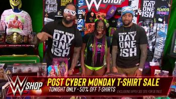 WWE Shop Post Cyber Monday T-Shirt Sale TV Spot, 'Keeping the Deals Going' Featuring Naomi, the Usos - Thumbnail 5