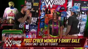 WWE Shop Post Cyber Monday T-Shirt Sale TV Spot, 'Keeping the Deals Going' Featuring Naomi, the Usos - Thumbnail 6