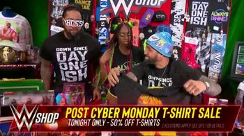 WWE Shop Post Cyber Monday T-Shirt Sale TV Spot, 'Keeping the Deals Going' Featuring Naomi, the Usos - Thumbnail 8